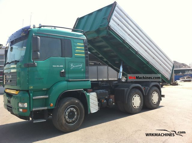 2005 MAN TGA 26.480 Truck over 7.5t Three-sided Tipper photo