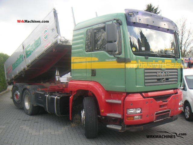 2006 MAN TGA 26.430 Truck over 7.5t Tipper photo