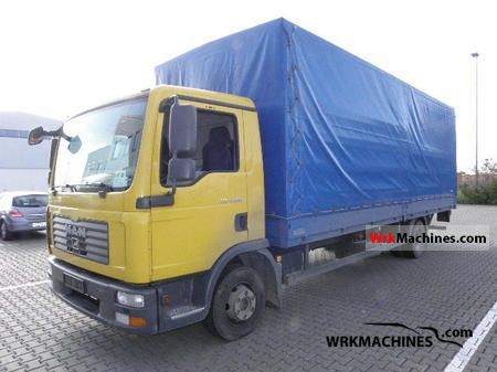 2009 MAN TGL 12.210 Truck over 7.5t Stake body and tarpaulin photo