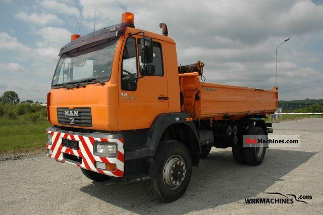 2002 MAN M 2000 L 280 Truck over 7.5t Three-sided Tipper photo