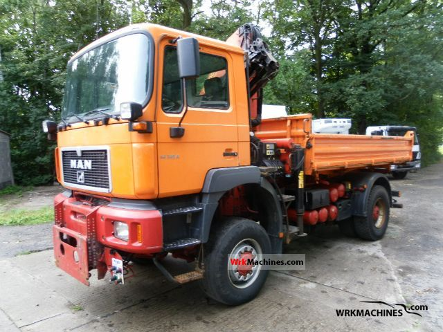 2001 MAN TGA 18.310 Truck over 7.5t Three-sided Tipper photo