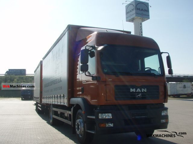 2008 MAN TGM 18.330 Truck over 7.5t Stake body and tarpaulin photo