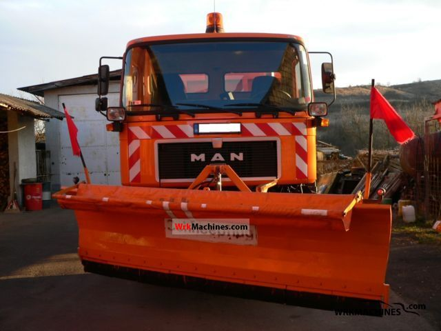 1992 MAN F 90 19.272 Truck over 7.5t Roll-off tipper photo