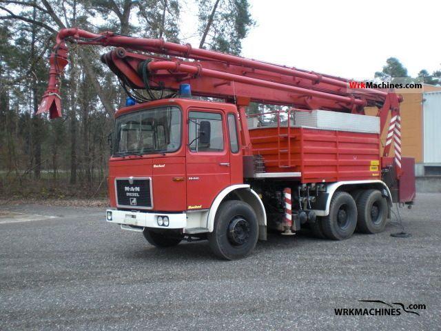 1979 MAN SR 240 Truck over 7.5t Concrete Pump photo