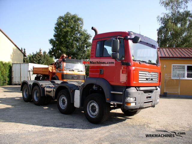 2004 MAN TGA 35.480 Truck over 7.5t Roll-off tipper photo