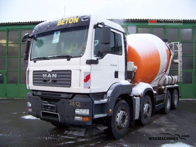 2008 MAN TGA 32.360 Truck over 7.5t Cement mixer photo