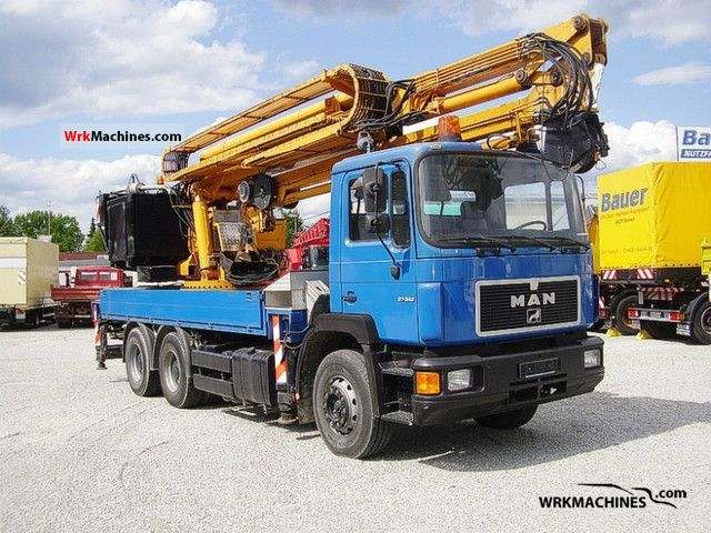 1996 MAN F 90 26.342 DF Truck over 7.5t Truck-mounted crane photo