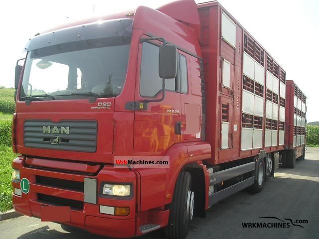 2005 MAN TGA 26.390 Truck over 7.5t Horses photo