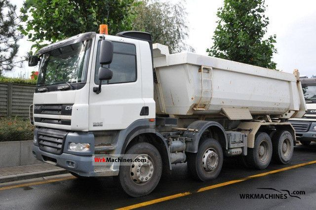 2007 DAF CF 85 85.410 Truck over 7.5t Tipper photo