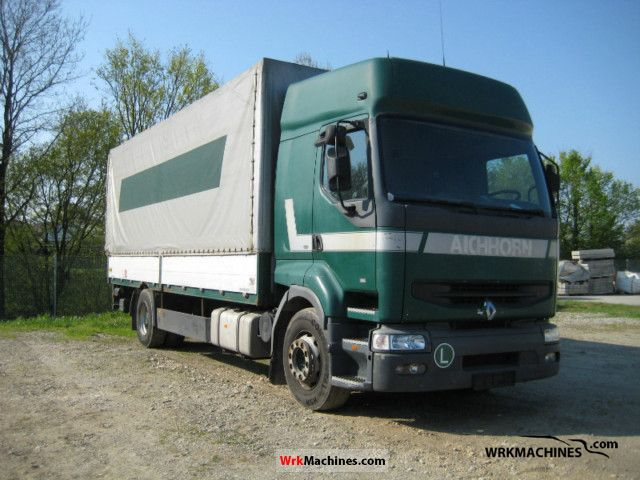 1997 RENAULT Kerax 385.18 Truck over 7.5t Stake body and tarpaulin photo