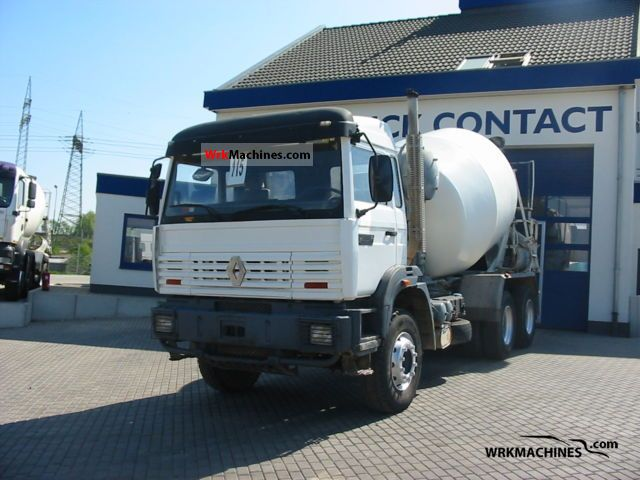 1995 RENAULT C 300.26 Truck over 7.5t Cement mixer photo
