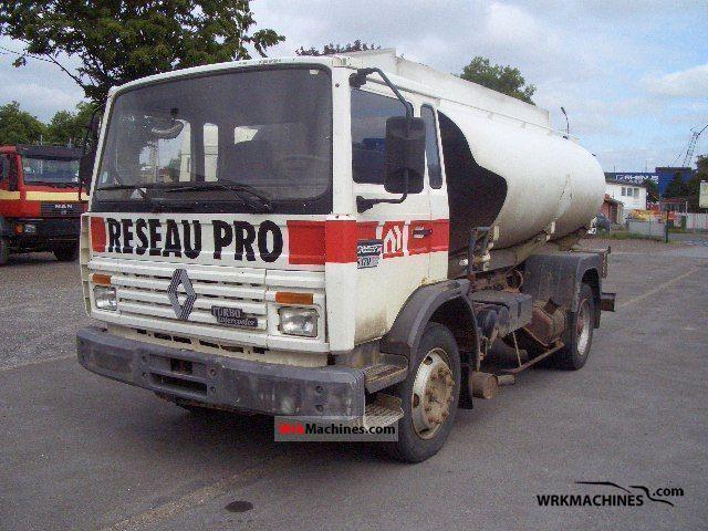 1990 RENAULT Midliner 170 Truck over 7.5t Tank truck photo