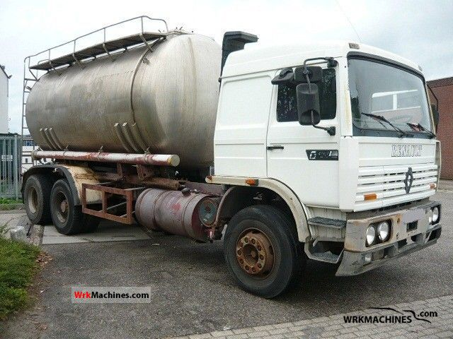 1990 RENAULT G G 300.26 Truck over 7.5t Tank truck photo