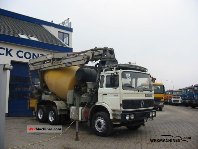 1990 RENAULT C 290.26 Truck over 7.5t Concrete Pump photo