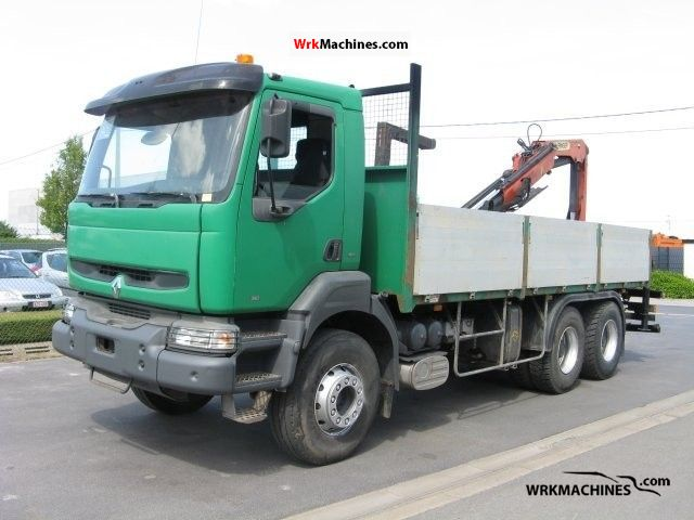 2000 RENAULT Kerax 340.26 Truck over 7.5t Stake body photo