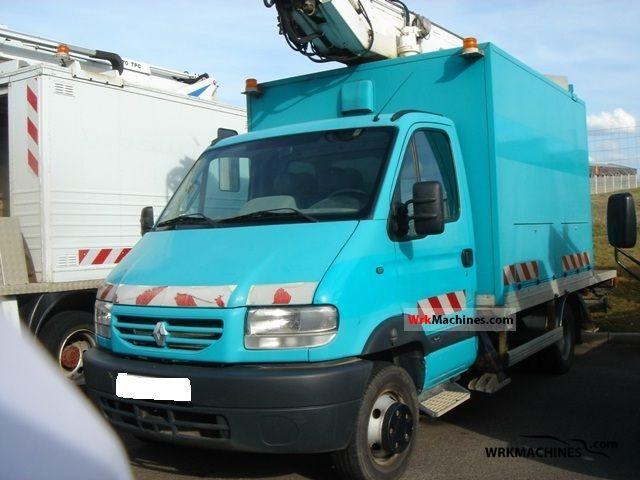 2003 RENAULT Mascott Mascott Van or truck up to 7.5t Hydraulic work platform photo