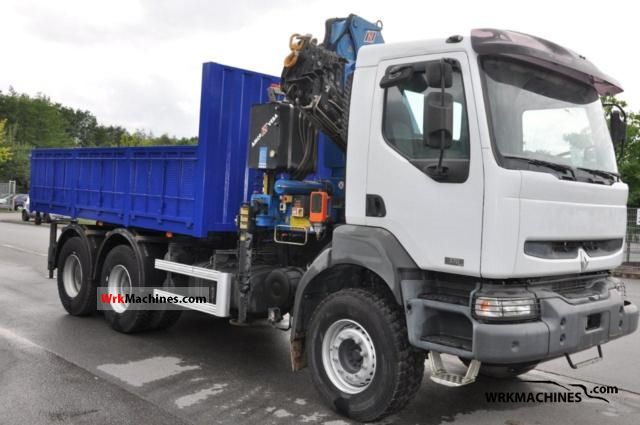 2006 RENAULT Kerax 370.26 Truck over 7.5t Truck-mounted crane photo