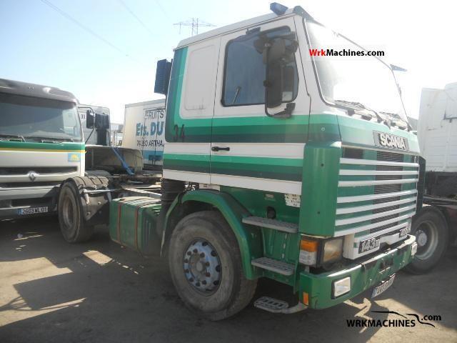 1990 SCANIA P,G,R,T - series 340 Semi-trailer truck Standard tractor/trailer unit photo