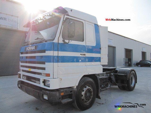 1994 SCANIA 3 - series 143 M/420 Semi-trailer truck Standard tractor/trailer unit photo