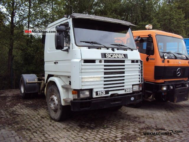1991 SCANIA 3 - series 113 M/360 Semi-trailer truck Standard tractor/trailer unit photo