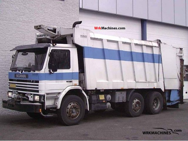 1990 SCANIA 3 - series 93 M/230 Truck over 7.5t Refuse truck photo