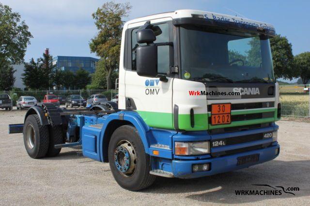 2000 SCANIA P,G,R,T - series 420 Truck over 7.5t Tank truck photo