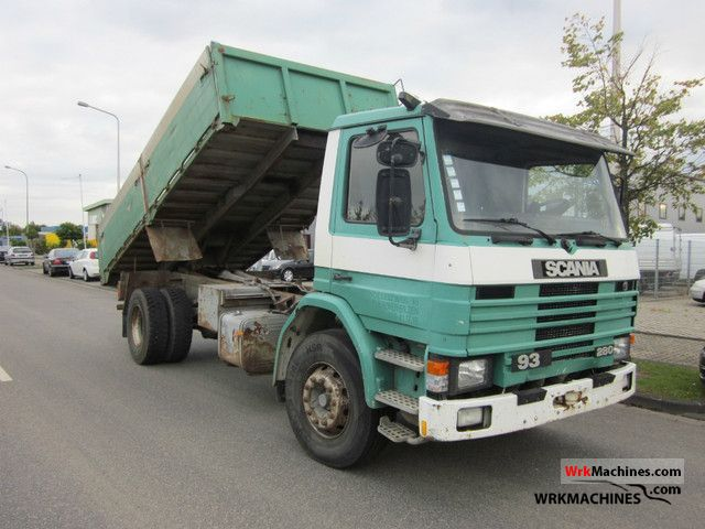 1992 SCANIA 3 - series 93 H/280 Truck over 7.5t Tipper photo