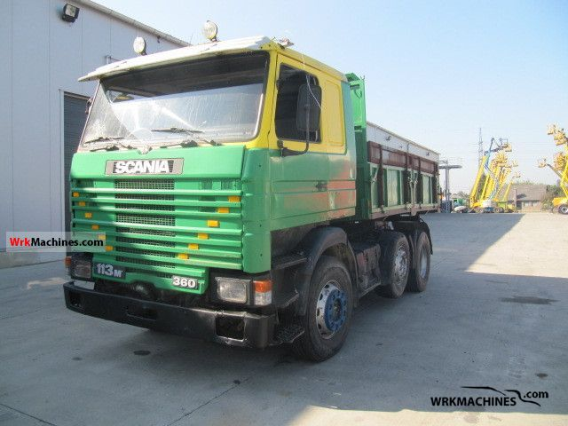 1990 SCANIA 3 - series bus 113 Truck over 7.5t Tipper photo