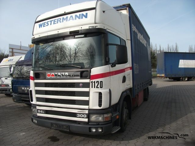 2002 SCANIA P,G,R,T - series 300 Truck over 7.5t Stake body and tarpaulin photo
