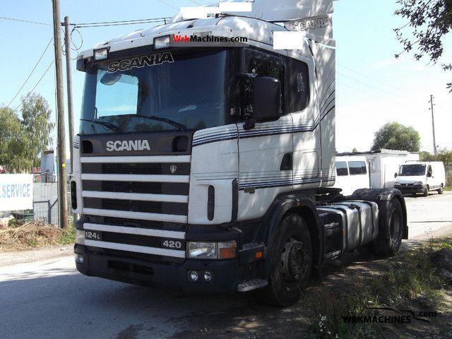 1998 SCANIA P,G,R,T - series 420 Semi-trailer truck Standard tractor/trailer unit photo