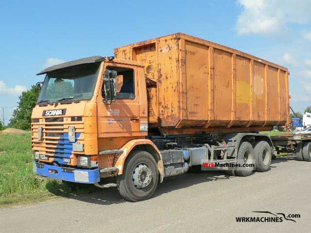 1991 SCANIA 3 - series bus 113 Truck over 7.5t Roll-off tipper photo
