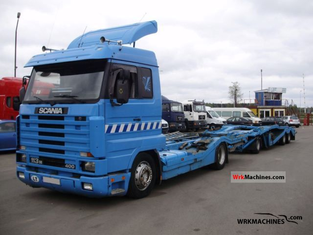 1996 SCANIA 3 - series bus 113 Truck over 7.5t Car carrier photo