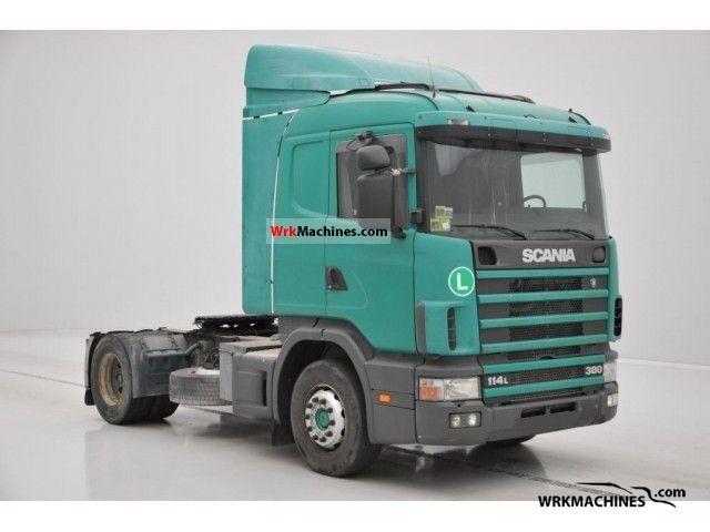 1998 SCANIA P,G,R,T - series 380 Semi-trailer truck Standard tractor/trailer unit photo