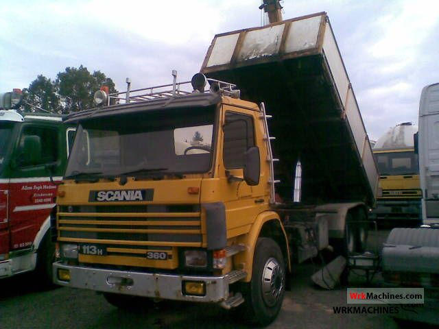 1991 SCANIA 3 - series bus 113 Truck over 7.5t Tipper photo