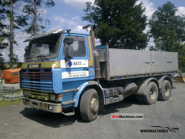 1991 SCANIA 3 - series 143 H/470 Truck over 7.5t Three-sided Tipper photo