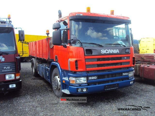 1998 SCANIA 4 - series 94 D/220 Truck over 7.5t Three-sided Tipper photo