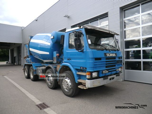 1992 SCANIA 3 - series 113 H/320 Truck over 7.5t Cement mixer photo