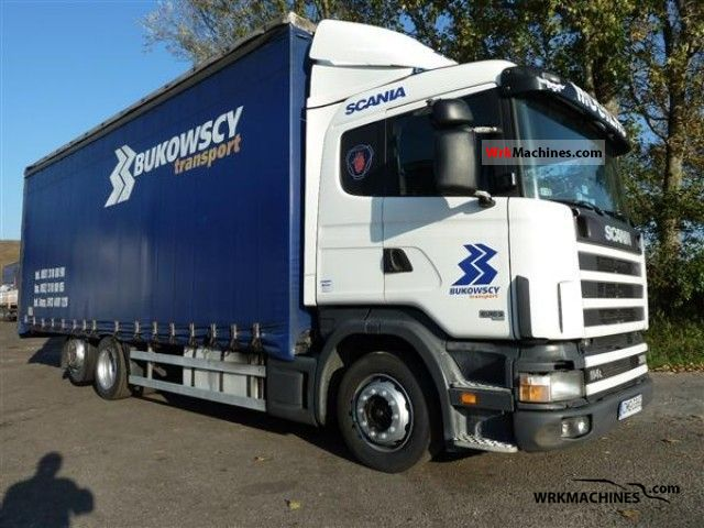 2003 SCANIA P,G,R,T - series 380 Truck over 7.5t Stake body and tarpaulin photo