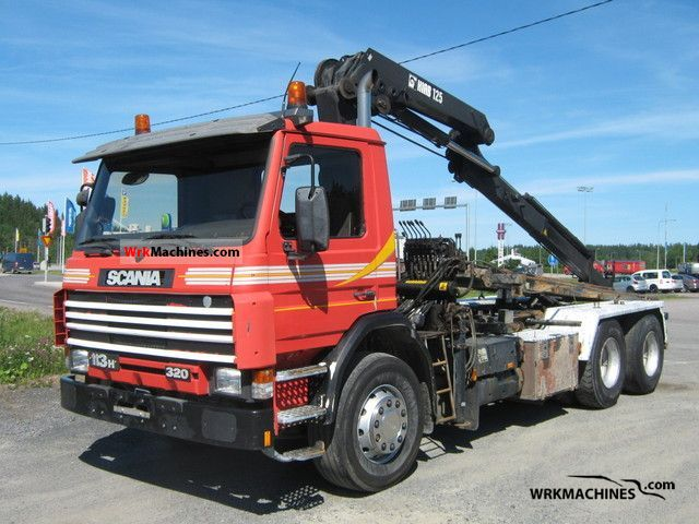 1995 SCANIA 3 - series bus 113 Truck over 7.5t Truck-mounted crane photo