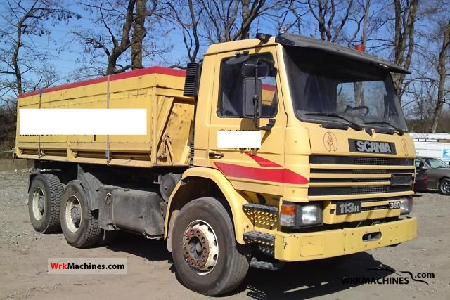 1995 SCANIA 3 - series bus 113 Truck over 7.5t Tipper photo