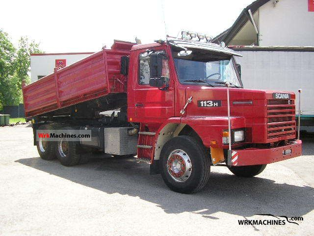 1993 SCANIA 3 - series 113 H/360 Truck over 7.5t Three-sided Tipper photo