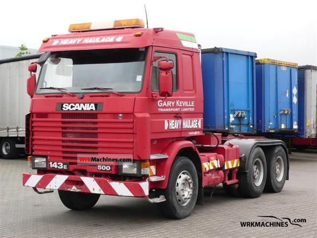1993 SCANIA 3 - series 143 E/500 Semi-trailer truck Standard tractor/trailer unit photo