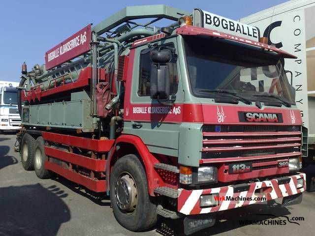 1995 SCANIA 3 - series bus 113 Truck over 7.5t Vacuum and pressure vehicle photo