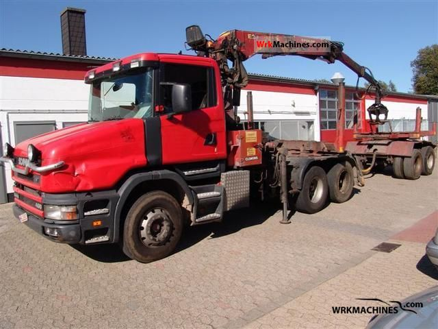 2000 SCANIA 4 - series 144 G/460 Truck over 7.5t Timber carrier photo