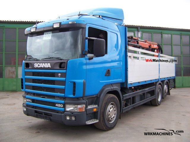 2002 SCANIA 4 - series 124 L/420 Truck over 7.5t Truck-mounted crane photo