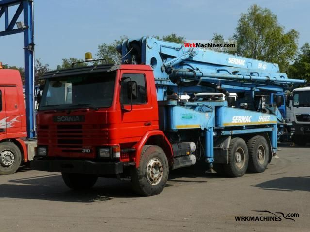 1995 scania 3 series bus 113 truck over 75t concrete pump photo