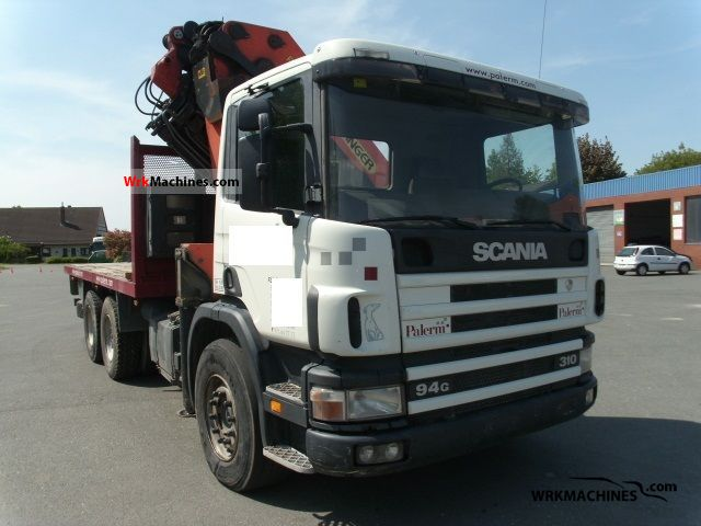 1998 SCANIA 4 - series 94 G/310 Truck over 7.5t Truck-mounted crane photo