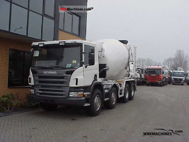 2009 SCANIA P,G,R,T - series P 380 Truck over 7.5t Cement mixer photo