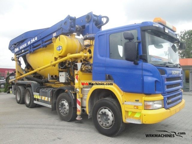 2007 SCANIA P,G,R,T - series P 380 Truck over 7.5t Cement mixer photo