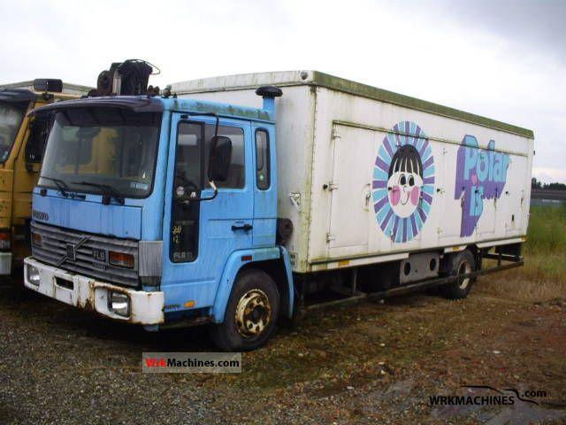 1988 VOLVO FL 6 FL 611 Truck over 7.5t Refrigerator body photo